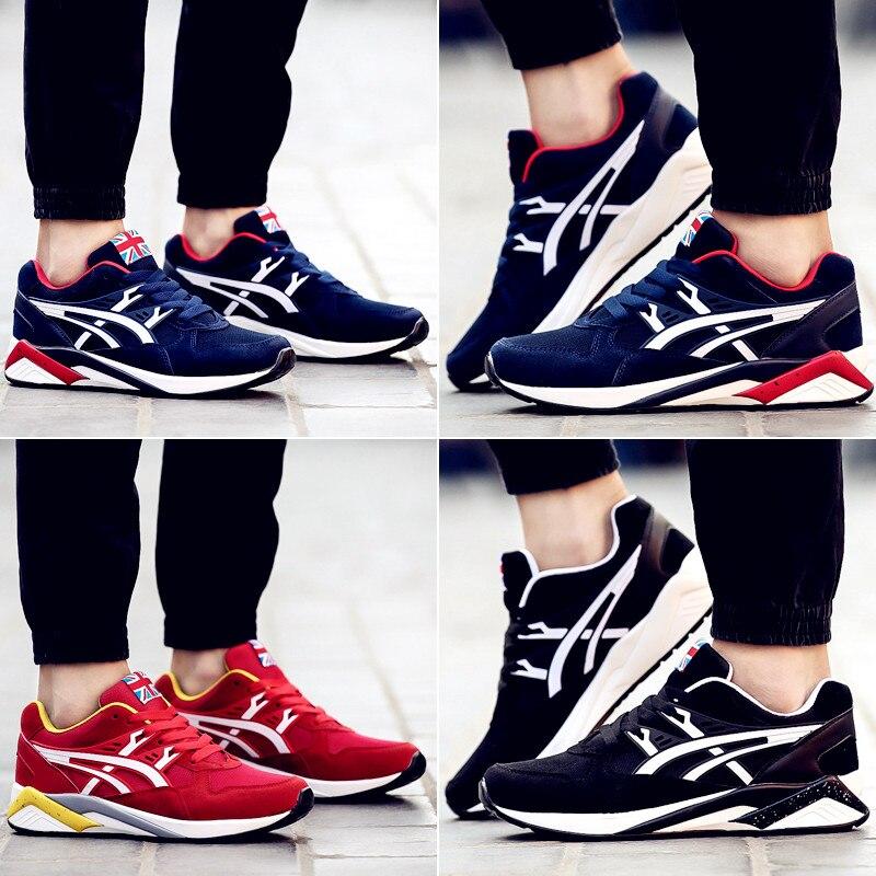 2016 Yeni Moda Yeni Erkekler Moda Açık denge tutmak Rahat Ayakkabı erkek Klasik Nefes Örgü Yürüyüş zapatillas deportivas
