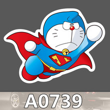 Bevle A0739 Doraemon Super Man Waterproof Sticker Notebook Phone Laptop Skateboard Fridge Graffiti Cartoon