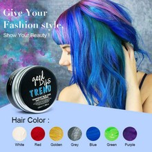 PURC Fashion Disposable Hair Color Wax Dye One-time Temporary Molding Paste Blue Hair Dye Wax Cream 100ml