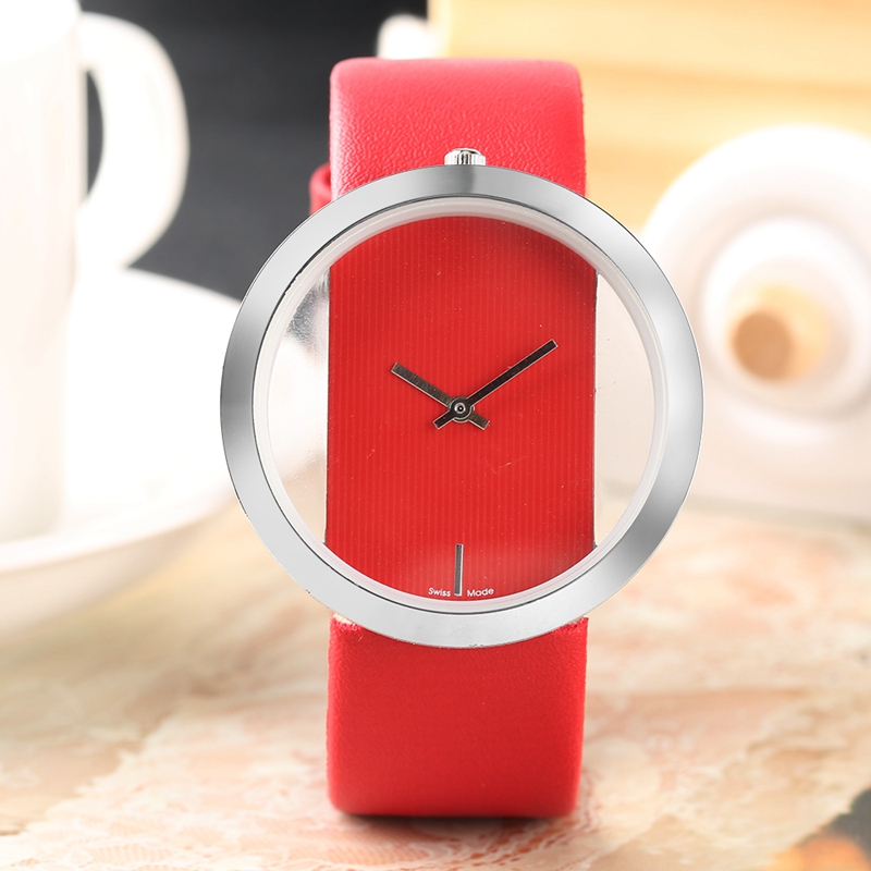 Watch Women Luxury Unique Hollow Skeleton Lady Wrist Watches Lucky Red Leather Quartz Casual Stylish Dress relogio feminino Gift (13)