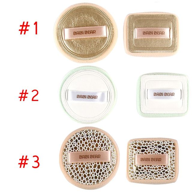2Pcs/Set Fashion NEW Pro Powder Puff Makeup Sponge Facial Foundation Cosmetic Puff Beauty Tools BB/CC Cream Puff Makeup Brushes