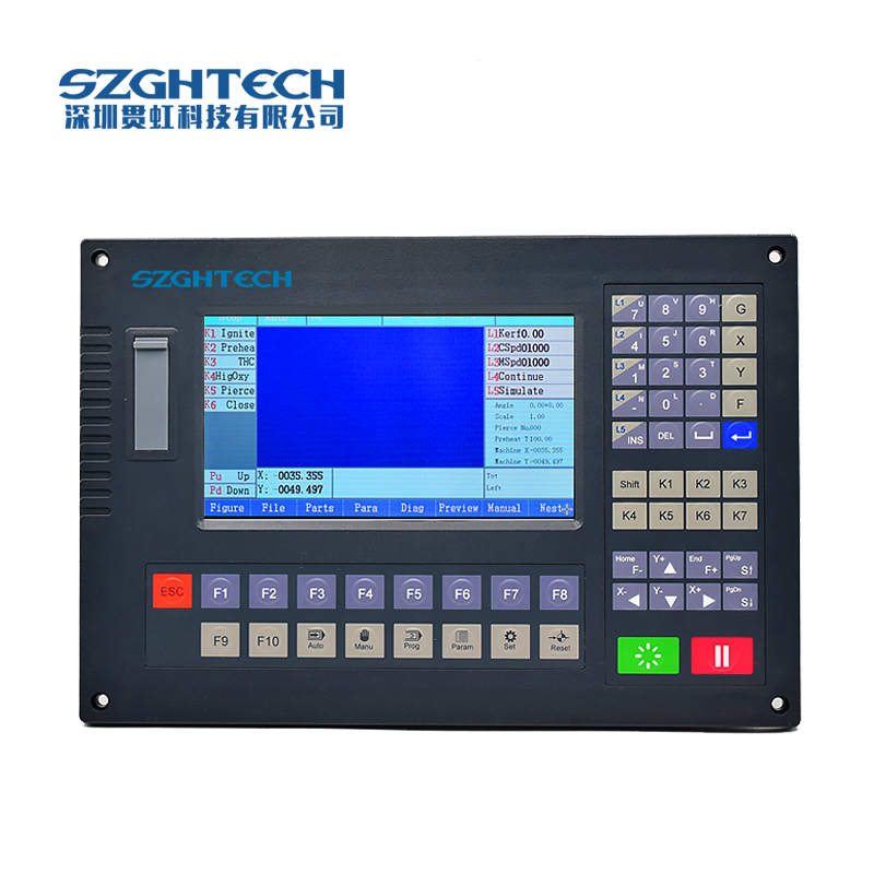 2 axis CNC controller for plasma cutting flame cutter precision GH-2012AH laser cutter