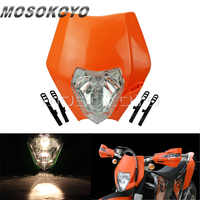 Arancione Dirt Bikes Motocross Enduro MX Faro Lampada Frontale per KTM 450 SX-F 250 SX 200 EXC XC-W XC-F 65 85 125 150 350