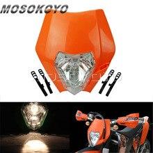 Оранжевый велосипеды грязи Streetfighter эндуро MX лампы передних фар для KTM 450 SX-F 250 SX 200 EXC XC-W XC-F 65 85 125 150 350