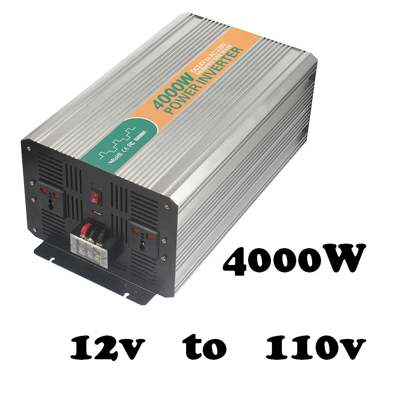 4000W  inverter used in power inverter made in china  high power 12vdc to 110vac 4000W off grid solax inverter power master