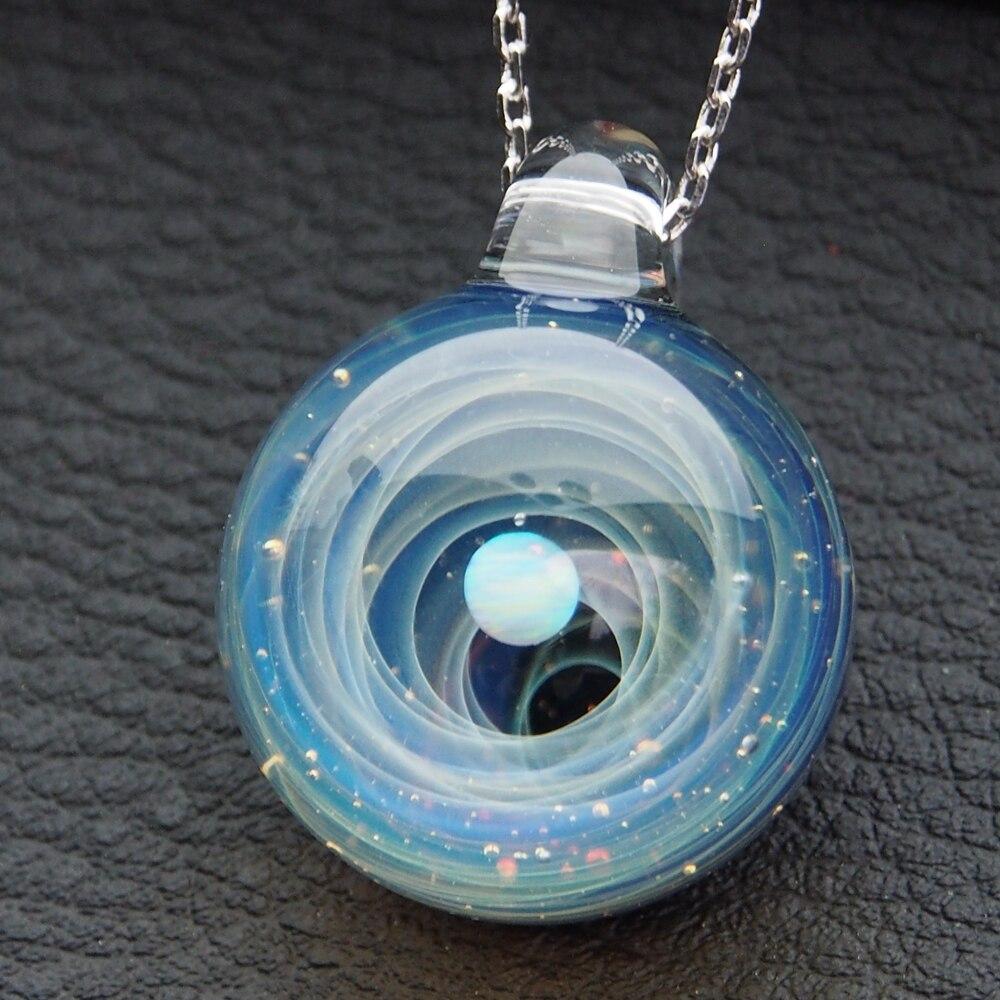Новый дизайн красивый Вселенная стеклянный шар галактика стеклянный кулон
