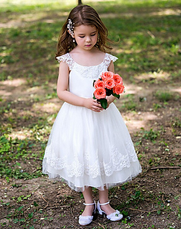 A-Line Flower Girls Dresses For Wedding Gowns Tulle Girl Birthday Party Dress Lace Kids Prom Dresses Mother Daughter Dresses gorgeous lace beading sequins sleeveless flower girl dress champagne lace up keyhole back kids tulle pageant ball gowns for prom