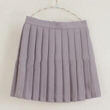 Smoke purple color Plain Jane Uniform Pleated Skirt & Light Pink lovely Maiden skirt