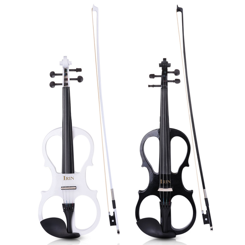 IRIN 4/4 Electric Violin Fiddle Stringed Instrument & Wood Maple Ebony Fittings Cable Headphone Case for Music Lovers elegant maple nylon rubber adjustable shoulder rest for violin khaki