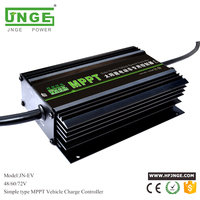 JNGE POWER Boost Type MPPT Solar Battery Charge Controller for Solar Electric Vehicle 48v/60v/72v auto Setting