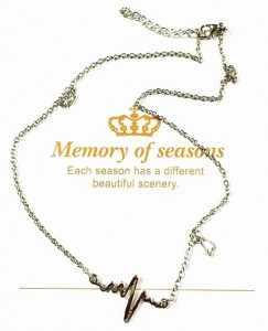 새로운 패션 주얼리 모조 티타늄 스틸 bijoux femme 골드 실버 ecg 하트 목걸이 쇄골 초커 펜던트 목걸이