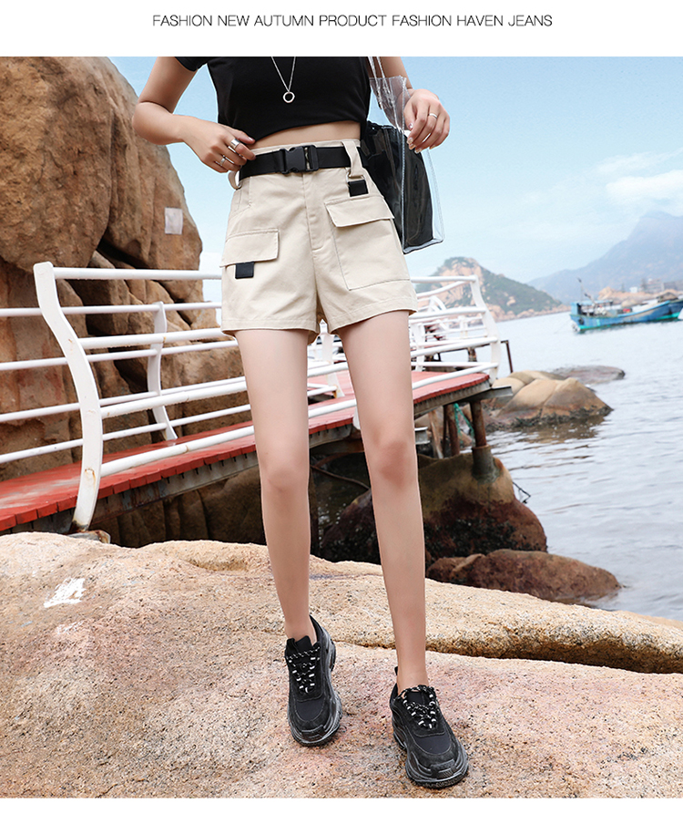 3XL Plus Size Women Summer Shorts With Belt 2019 Fashion Casual Streetwear Cargo Shorts Feminino BF Style Army Green Short Femme 25