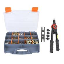 цена на 900pcs M3/M4/M5/M6/M8/M10 Rivet Nuts and 1pcs Hand Level Riveting Rivet Pliers Nut Tool Kit nut for wood