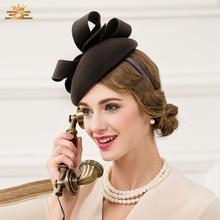 Для женщин зима британской моды шерсть шляпа Женская одежда Вечерние Малый Кепки женские британский стиль вечерние шерсть Кепки B-4784