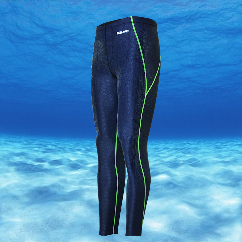 Free Shipping Swimwear Long Men's Swimsuit sharkskin water repellent men's swimming trunks Sport classic men swimwear