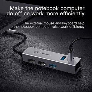 Image 2 - Baseus HUB Multi USB C vers USB 3.0 USB3. Séparateur de HUB USB type c 0 pour Macbook Pro Air, adaptateur pour HUB USB type c USB C