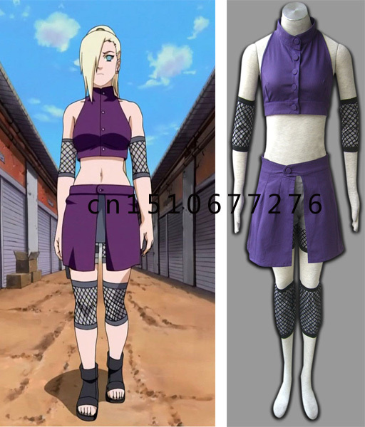 Anime Naruto Yamanaka Ino Cosplay Costume