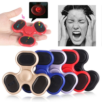 Bluetooth Speaker Colorful Hand Fidget Clear Flash Light Finger Tri Spinner For Autism ADHD Relief Focus