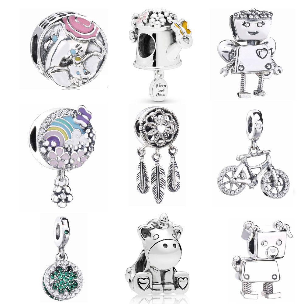 Slovecabin 2018 Summer Spiritual Dream Catcher Dangle Charm Pendants 925 Sterling Silver Making Jewelry Fit Charms Bracelet