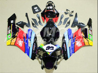 ACE KITS New ABS Injection Fairings Kit Fit For HONDA CBR1000RR 2004 2005 CBR1000RR 04 05 Black Red F86