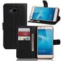 Retro pu leather wallet case para huawei honor 5c europea sin sensor de huellas digitales del teléfono cubierta de bolsa de shell