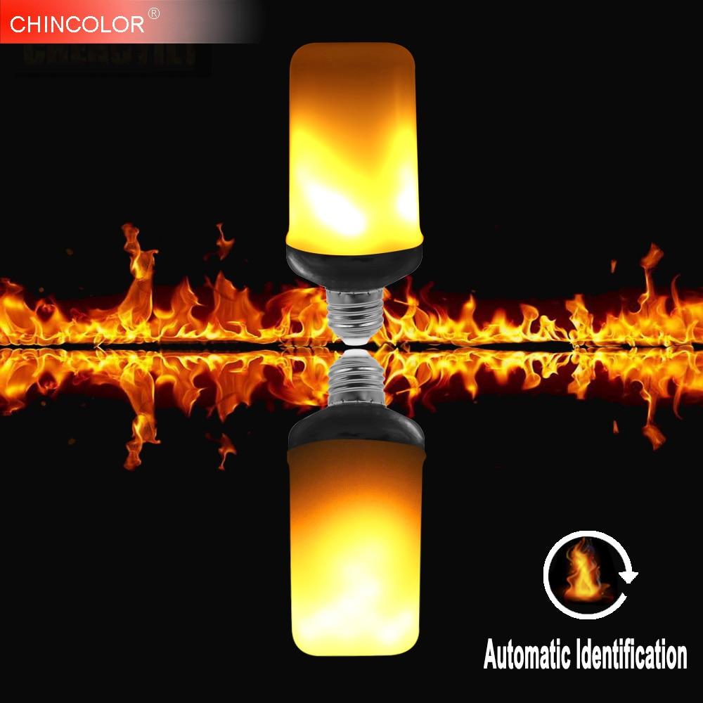 E26 E27 светодиодный пламя лампы огонь лампочки E14 B22 SMD2835 мерцающие декоративные 1 ...