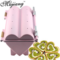 Mujiang DIY Heart Shape Toast Mold Stainless Steel Cookie Bread Molds Non Stick Metal Cake Mould Kitchen Baking Accessories