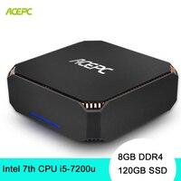 ACEPC CK2 настольный компьютер мини-ПК с Windows 10 NUC Intel Core i5 7200U 8 Гб DDR4 120 GB SSD 2,4G 5G Wi-Fi/BT4.2 4 K мини-ПК linux