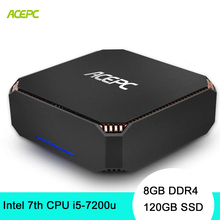 ACEPC CK2 настольный компьютер Mini PC Windows 10 NUC Intel Core i5 7200U 8 GB DDR4 120 GB SSD Gigabit Ethernet/4 K/2,4G 5G Wi-Fi/BT4.2