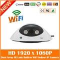 Hd 1080 P Wi-Fi Купольная Ip-камера Onvif Главная Видеонаблюдения Cctv Cmos Ночного Видения Белый Веб-Камера Freeshipping Горячей продажа
