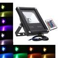 Черный  Серый Светодиодный прожектор RGB  10 Вт  20 Вт  30 Вт  50 Вт  водонепроницаемый Светодиодный прожектор для наружного освещения  ландшафтное...