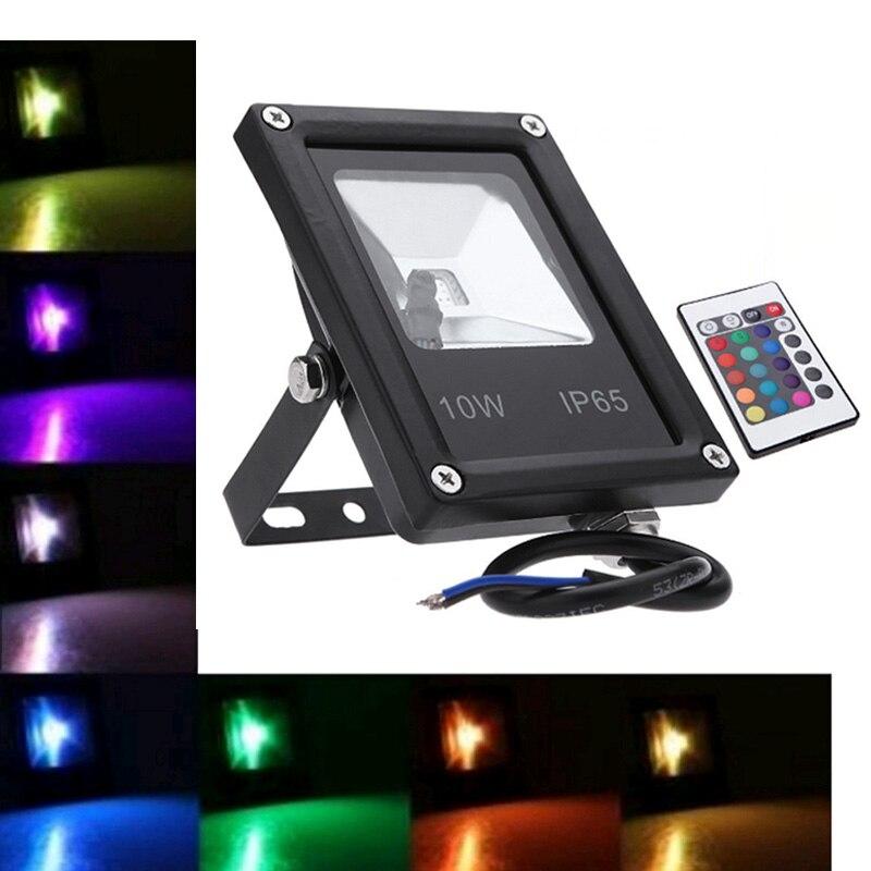 Black Grey Floodlight Led RGB 10W 20W 30W 50W Waterproof Led Spotlight Outdoor Lighting Landscape Lighting With Remote Control