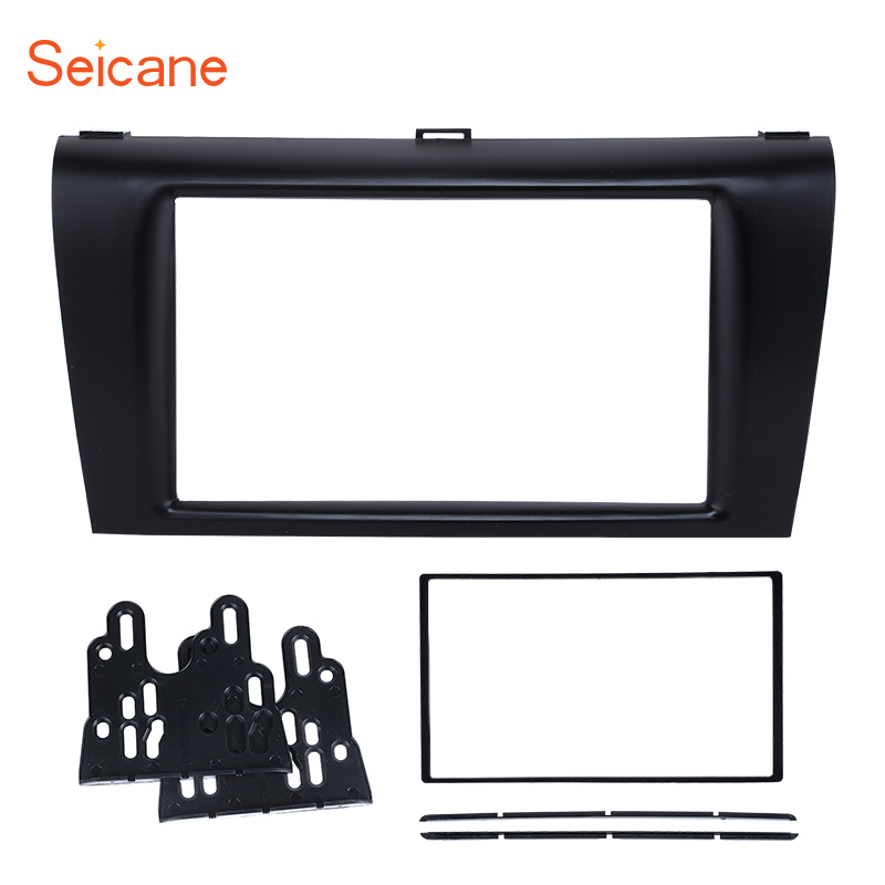 Seicane 173*98mm Car Radio Fascia 2 Din Stereo Panel for 2010 2011 2012 2013 Mazda 3 DVD Multimedia Player Dashboard Trim kit