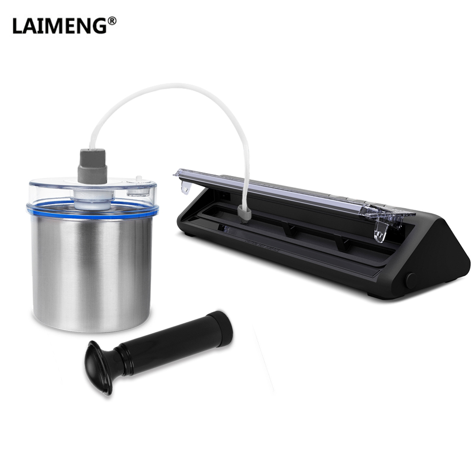 LAIMENG Food Packaging Machine Vacuum Sealing Packer Food Grade Vacuum Bags Stainless Steel Vacuum Container For Packing S196 laimeng automatic vacuum sealing machine for food food grade vacuum bags packaging for vacuum packer package for kitchen s217