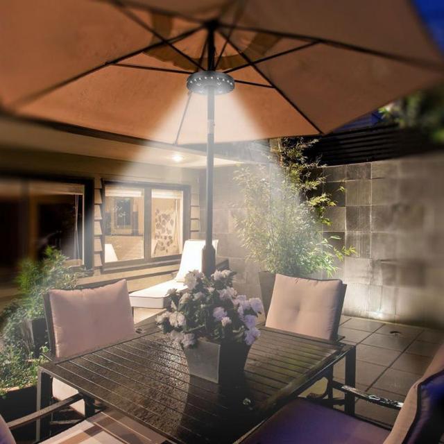 400LM 24+4LED Outdoor Cordless Patio Umbrella Pole Light Garden Portable  Camping Tent Lamp Emergency - 400LM 24+4LED Outdoor Cordless Patio Umbrella Pole Light Garden
