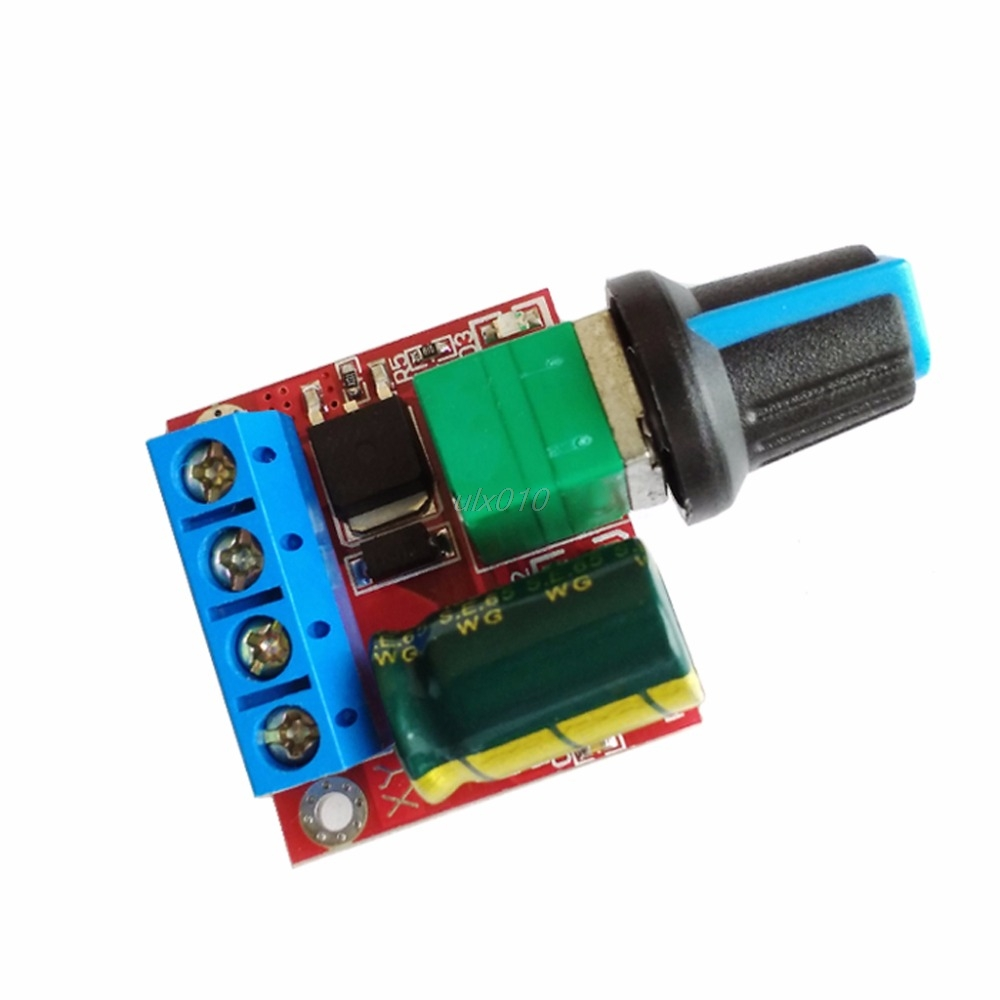Mini DC Motor PWM Speed Controller 4.5V-35V Speed Control Switch LED Dimmer 5A May Whosale&DropShip