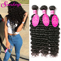 Mink Brazilian Curly Virgin Hair Deep Wave 3 Bundle Deals Deep Curly Brazilian Hair Weave Bundles Curly Weave Human Hair Bundles