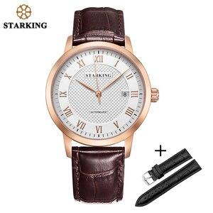STARKING Man Watch Fashion Mens Wrist Watches Black Leather SET Top Brand Luxury Mechanical Watch Men 50M Waterproof Auto Date|Mechanical Watches| |  -