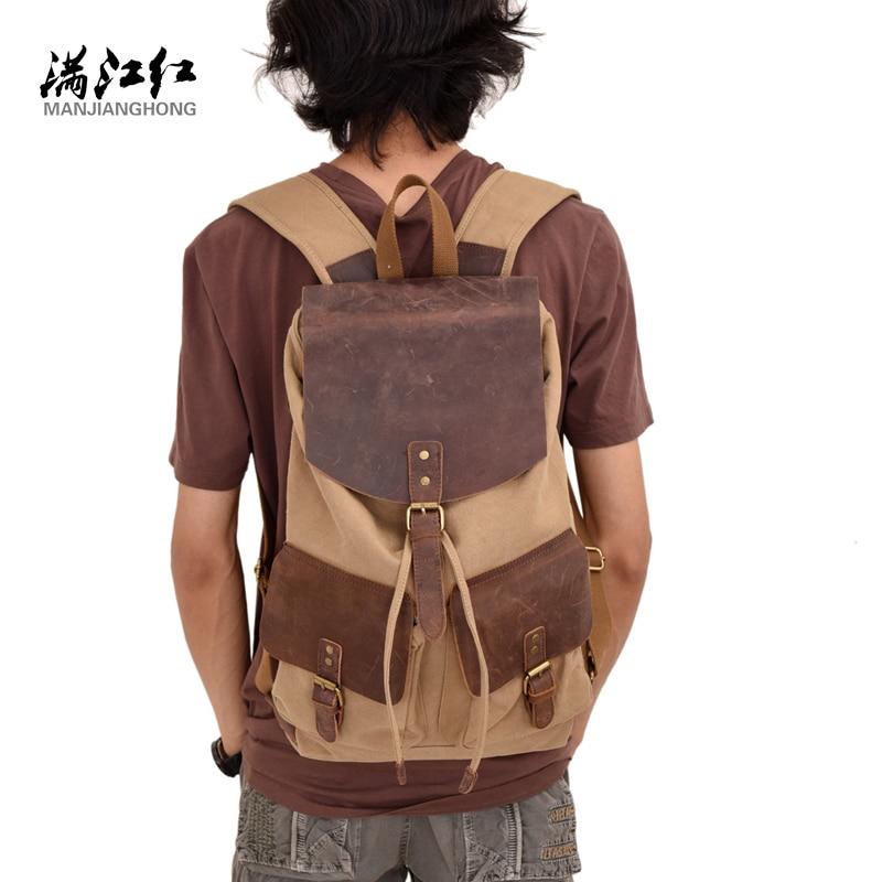 Fashion Luxury Canvas Backpack Vintage Unisex Shoulder Bag Solid String Rucksack Casual Travel Men Knapsack School Laptop Bag asus p8b75 m le desktop motherboard b75 socket lga 1155 i3 i5 i7 ddr3 uatx on sale