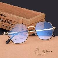 Men And Women Big Box Super Light Metal Optical Nearsighted Glasses Legs Brand Designer Prescription Eye