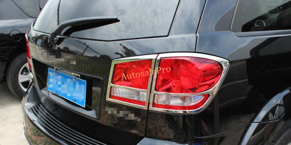 ФОТО ABS Chrome Rear Tail Light Lamp Cover Trim 4pcs For DODGE Journey 2013 2014 2015