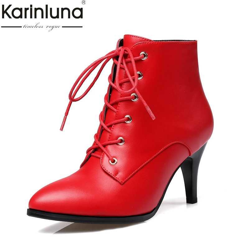 Karinluna 2019 dropship ขนาดใหญ่ 32-43 elegant รองเท้าผู้หญิงรองเท้าข้อเท้ารองเท้าแฟชั่นรองเท้าส้นสูงลูกไม้ up ผู้หญิงรองเท้ารองเท้า