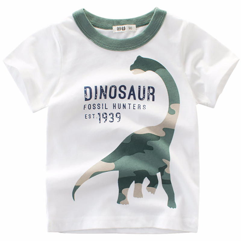 Baby Boys T shirt Children Clothing Cartoon Pattern Clothes Boys Short Sleeve Tops Kids T-shirts for Boy Sweatshirt Summer 2018