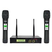 Freeboss FB U11 Micro Không Dây UHF Hệ Thống 2 chiều 100 Kênh HỒNG NGOẠI Tần Số Mic Không Dây Karoke KTV Đảng Năng Động Micro
