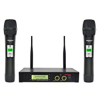Freeboss FB U11 UHF Wireless Microphone System 2 way 100 Channels IR Frequency Wireless Mic Karoke KTV Party Dynamic Microphone