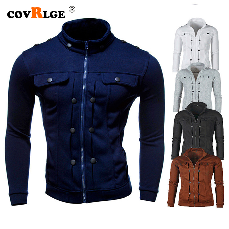Covrlge Handsome 2019 Top Slim Men's Sweatshirt Casual Men Tracksuits Comfortable Popular For Male Hoodie Asian Size MWW159
