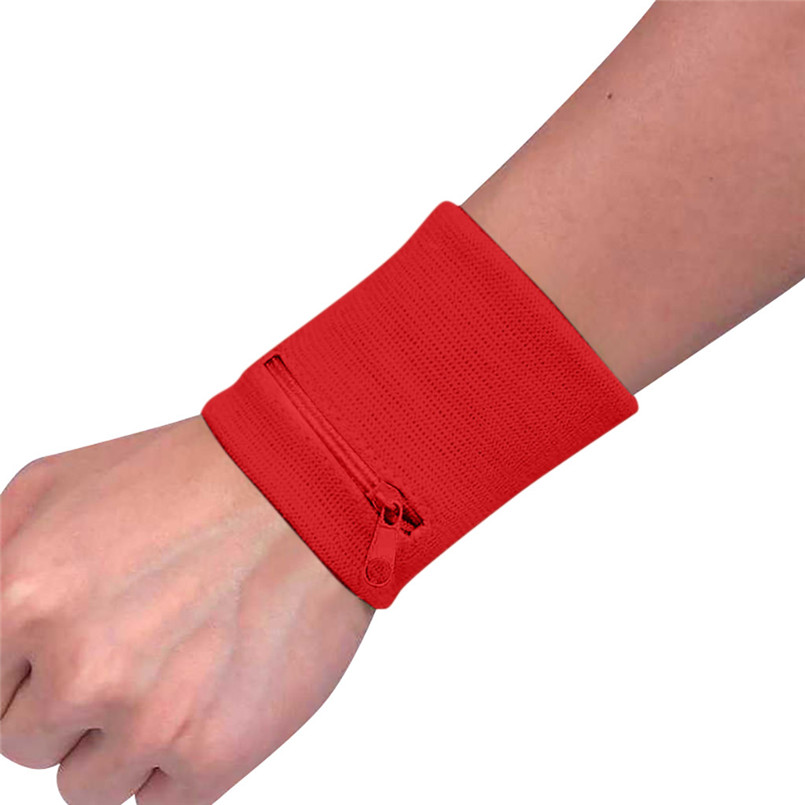 Zipper Wrist Wallet Pouch Band Zipper Running Travel Gym Cycling Safe Key Card Sport Bag Cotton Storage Comfortable For Running