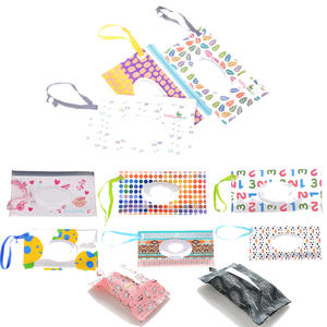 Tissue-Boxes Wipe-Container-Wipes Cosmetic-Pouch Clamshell Clutch And Eco-Friendly Snap-Strap