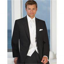 dd3220cc7 De alta calidad de estilo occidental para hombres trajes de padrino de tres piezas  traje de boda para hombres (chaqueta + Pantal.