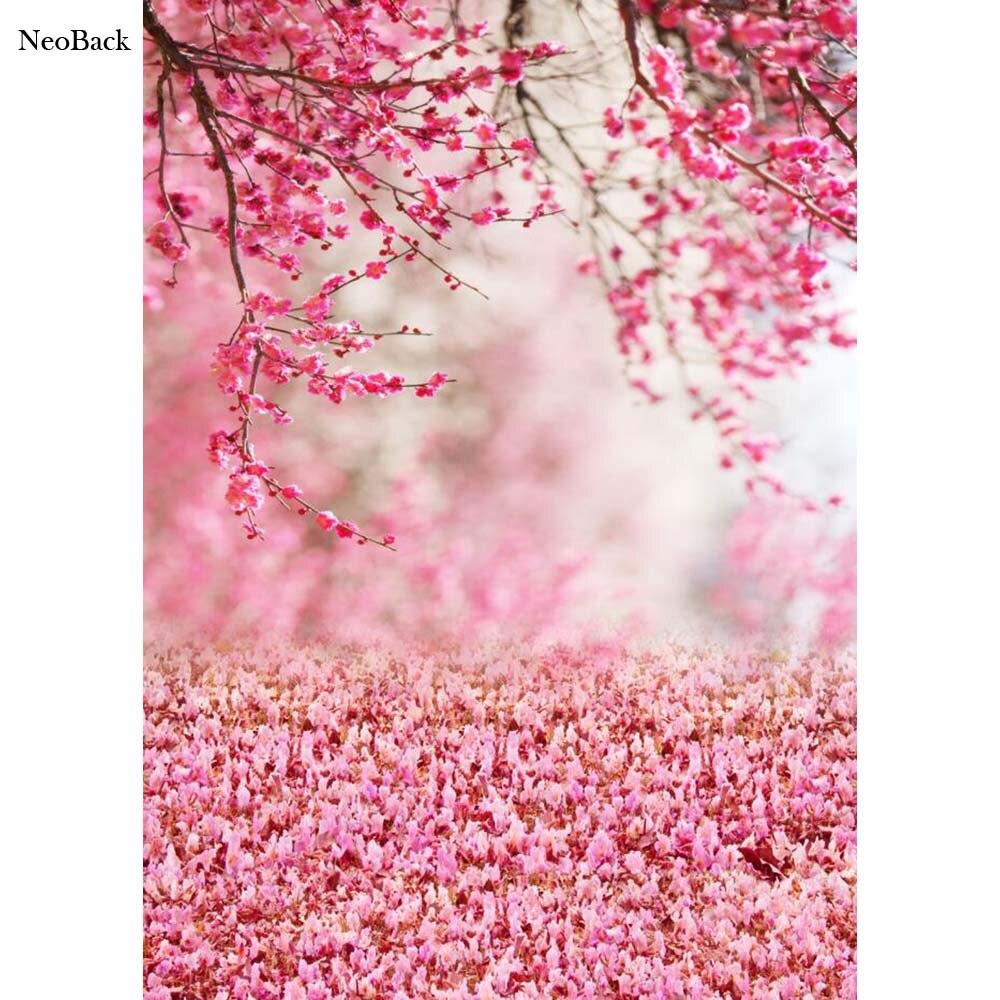 Neoback 3x5ft 5x7ft Rosa Fiori Di Pesco Vista New Born Baby Foto